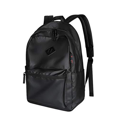 SXGX Mochila de Laptop Impermeable 15.6 Pulgadas, Puerto de Carga USB + Gato de Auricular, Bolsa de Escuela de Gran Capacidad Masculina y Femenina, Bolsa de Negocios de o Black