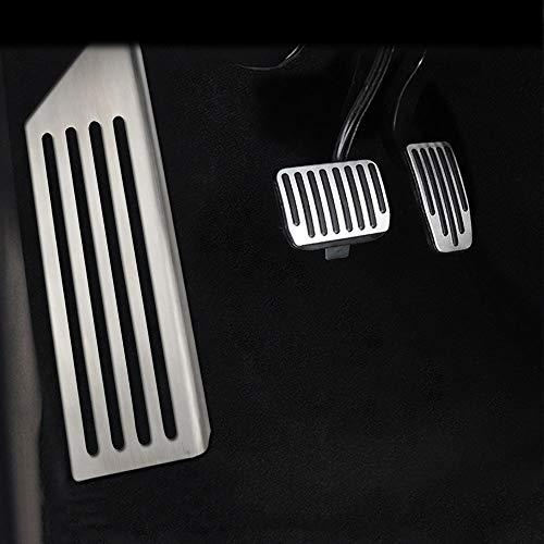 CQZHK Acelerador de Pedal de Coche, Pedal de Freno de Combustible de Gas, Cubierta de Pedal de Descanso de aleación de Aluminio para Tesla Model 3 Model3