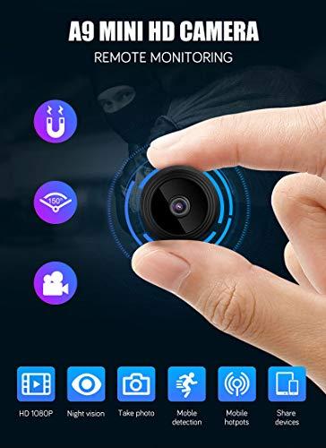 1080P HD Mini IP WiFi Kamera Camcorder Drahtlose Heimsicherheit DVR Nachtsicht, 120 Minuten Arbeitszeit, 150 ° Weitwinkel, perfekte Full HD verdeckte Überwachungskamera
