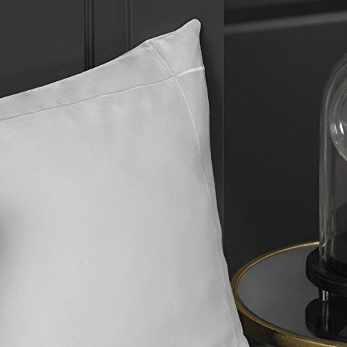 Ernst Comfy algodón egipcio 400hilos funda nórdica set, 100 % algodón, Weiß / Weiß, Extra Pillowcase Pair