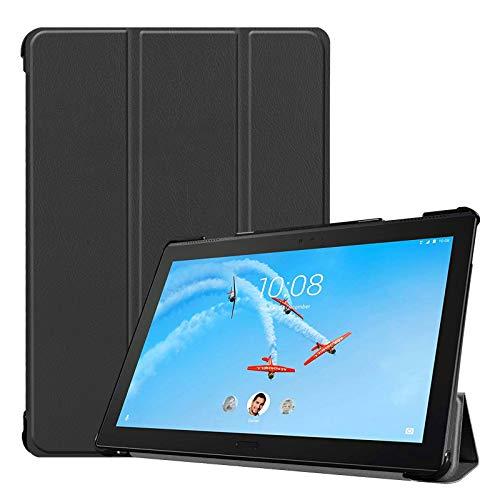 Lobwerk Hülle für Lenovo Tab P10 TB-X705F 10.1 Zoll Smart Cover Etui mit Standfunktion & Auto Sleep/Wake Funktion Schwarz