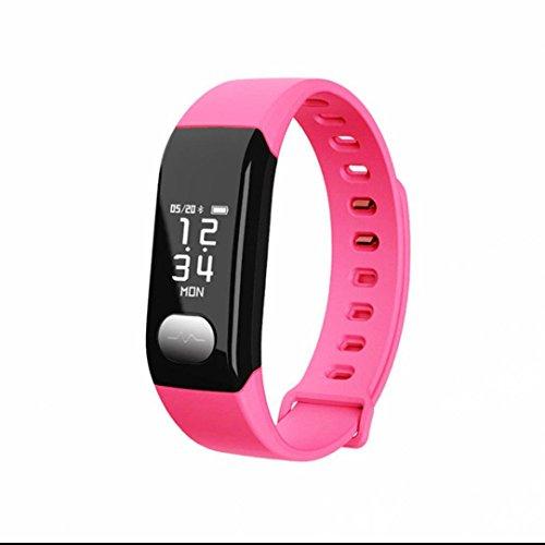Bracelet Intelligent Tracker d'activité,Sweatproof,Moniteur de sommeil,d'Activité Fitness,Cardiofréquencemètres,Apparence vogue,Tracker Sommeil Montre Fréquence Cardiaque Alertes intelligentes pour Android iPhone