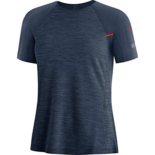 GORE WEAR Camiseta Vivid para mujer, GORE Selected Fabrics, 40, Azul oscuro