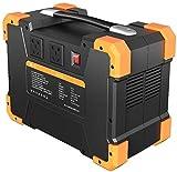 Generador Portátil Generador Inverter Generador portátil 1028WH 1461WH Fuente de alimentación de emergencia de energía con inversor DC / CA, cargado por panel solar / salida de automóvil / pared