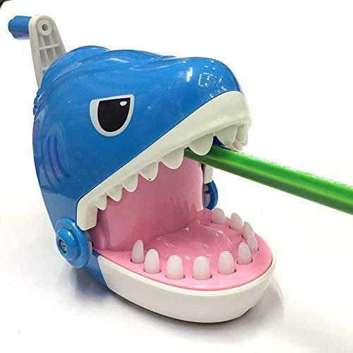 LKIHAH handmatige plastic potloodslijper, haai bijten vinger spel grappige speelgoed en potlood slijper, student schudden een potlood slijper