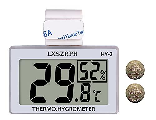 GXSTWU 温度計 爬虫類 湿度計 デジタル 両生類 温湿度計 HD液晶 ベルクロ フック付き 爬虫類タンク テラリウム 飼育室 ビバリウム用 (一つ)