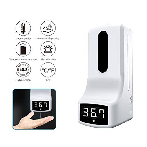 WWJJLL Infrarot-Digital-Temperatur, aufputz Automatische Temperaturerfassung und 1000ml Handwaschseifenspender schützen effektiv Family Health