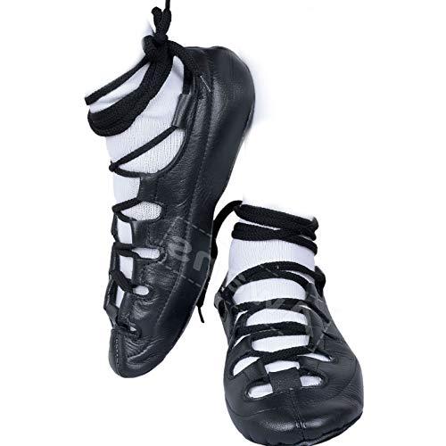 Awans Irische Tanzschuhe, Leder-Pumps, Schwarz - Schwarz - Größe: 39 1/3 EU
