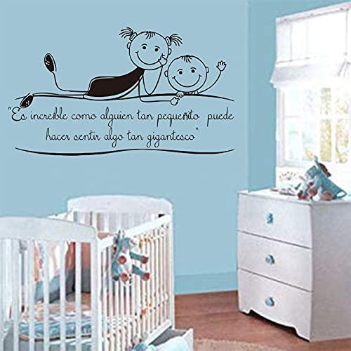 Jsnzff Vinilo Decorativo de Pared ¿Cómo Puede un bebé Tan pequeño Hacer Que la Gente se Sienta Tan Grande y Asombrosa? Decoración de la habitación de los niños 57x100cm