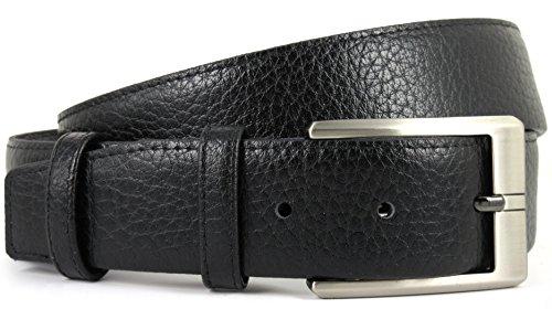 Cinturón de piel para hombre con cremallera secreta interior antirrobo - Hecho a mano en España con piel de alta calidad - Accesorio de Viaje (Negro)