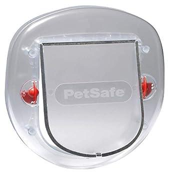 PetSafe chatière Staywell pour fenêtre, porte coulissante intérieure ou extérieure, chatière pour chats et petits chiens jusqu'à 10 kg, largeur d'épaule max 18,20 cm, durable, givré
