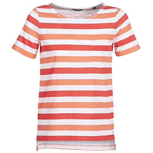 Marc O'Polo CARACOLINE T-Shirt & Polo Femmes Bianco/Arancio - S - T-Shirt Maniche Corte