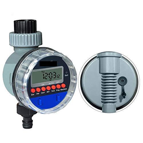 Lijincheng Zeitgesteuerte Bewässerung Automatischer elektronischer Kugelhahn-Wasser-Timer Startseite Wasserdicht Gartenbewässerung Timer Bewässerungssteuerung mit LCD-Anzeige
