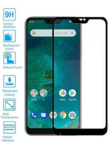 Todotumovil Protector de Pantalla Xiaomi Mi A2 Lite Negro Completo 3D Cristal Templado Vidrio Curvo para movil