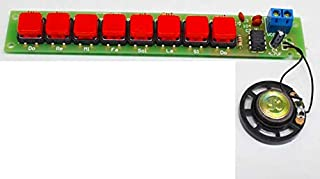 DDIY DIY NE555 Electronic Piano Organ Keyboard Module Kits with Battery Box and Button Cap Parts PCB Circuit Board Training Kits