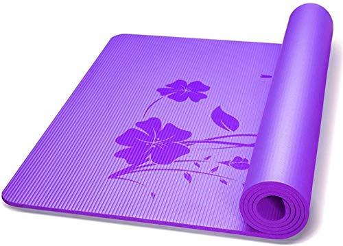 Esterilla de Yoga Fitness Yoga Mat 80cm Ampliando la Aptitud del cojín Extended Deportes Mat Yoga ambientalmente amistoso no Slip Mat Pilates Ejercicio (Color : Purple)