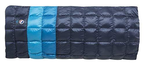 Big Agnes Camp Robber Bedroll (650 DownTek), Blue Stripe, Double Wide (50x78)