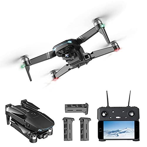 JJDSN Drone RC con Telecamera 6K, Quadricottero RC con Giunto cardanico a 3 Assi, Drone FPV GPS WiFi 5G con Telecamera HD Anti-Shake per Adulti Motore brushless Livello 7 Resistenza al Vento 3 Bat