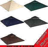 freigarten.de Ersatzdach für Pavillon 330 cm x 330 cm Sand Antik Pavillon Wasserdicht Material: Panama PCV Soft 370g/m² extra stark Modell 10 (Beige)