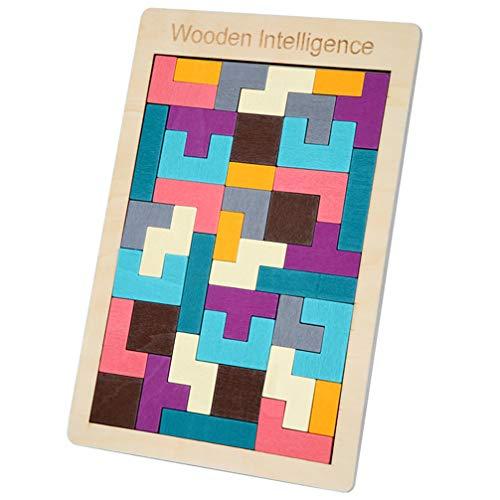 Toporchid Enfants Casse-tête Puzzle en bois Tetris Toy Game Jouet éducatif