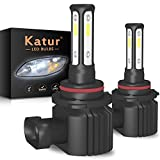 KATUR 9005 HB3 LED Fog Light Bulb 3 Lati Shinning 3570 Chips Canbus Max 100W 3000 Lumens Sostituisci per Guida Daytime Running DRL o fari fendinebbia, 6000K Xenon White-2 Anni di Garanzia