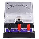 Baluue Analog Ammeter Pointer Type Electrical Current Ampere Tester Sensitive Amperemeter Microammeter Galvanometer for Lab School
