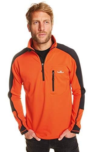 Jeff Green Herren Softshell Pullover Gent - Funktions- und Outdoor Pullover mit Thermofunktion, Größe - Herren:S, Farbe:Orange Com