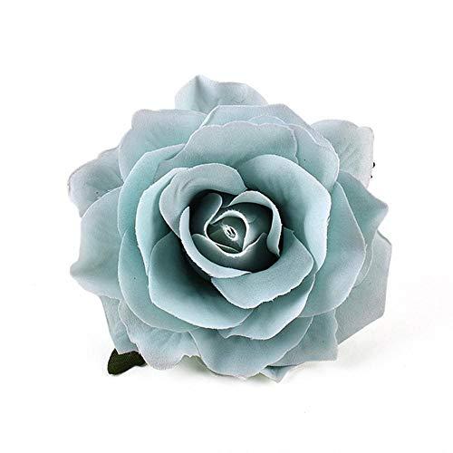 30 STKS 9 cm Kunstmelk Wit Rose Zijden Bloemhoofdjes Voor DIY Bruiloft Decoratie Bloem Muur Krans Gift Craft Nep Bloemen, Tiffany