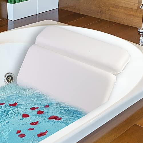 Lactraum Premium Badewannenkissen Nackenkissen Wannenkissen Hygienisch mit Spezialschaum und 7 Saugnäpfen Liegekomfort für Spa Badewanne Whirlpool