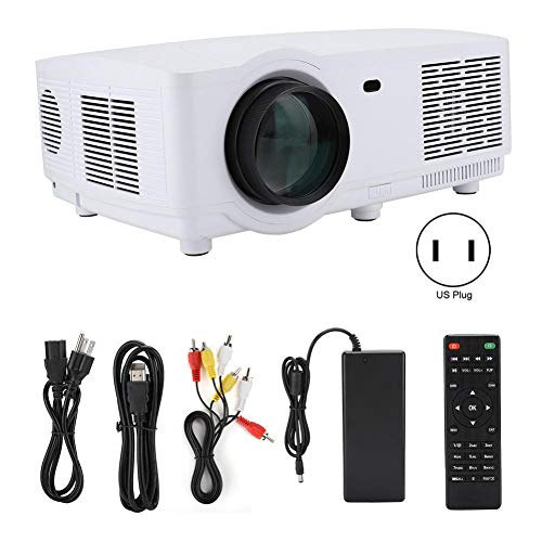 1280x800 HD Home Theater Project, 1080P 3D Red and Blue Video Projector, Built-in High Fidelity Audio, Keystone Correction, Mini Projector Manual Lens/Portable Focus, Best Gift(US)