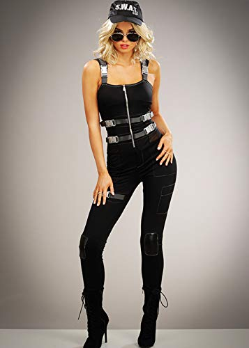 Disfraz de SWAT Peligroso para Mujer Medium (UK 10-12): Amazon.es ...