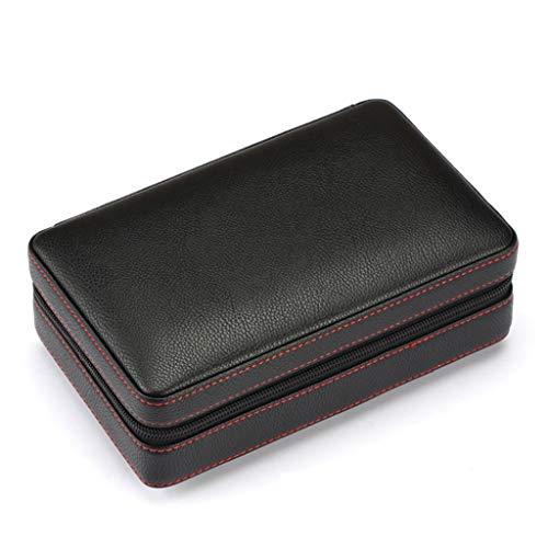 Accesorios Bolsa de Puros portátil humidor humidor de Puros Bolsa de Puros portátil de Fiesta de Viaje Bolsa de Puros Suaves Madera de Cedro Natural (Color : Black, Size : 20 * 13 * 8cm)