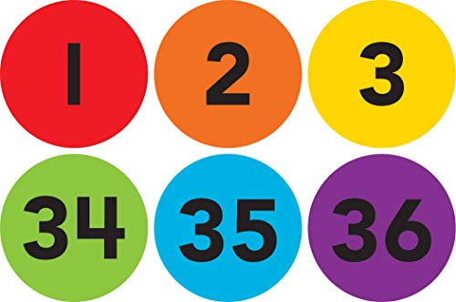 """Spot On Carpet Markers: Numbers 1–36-4"""""""