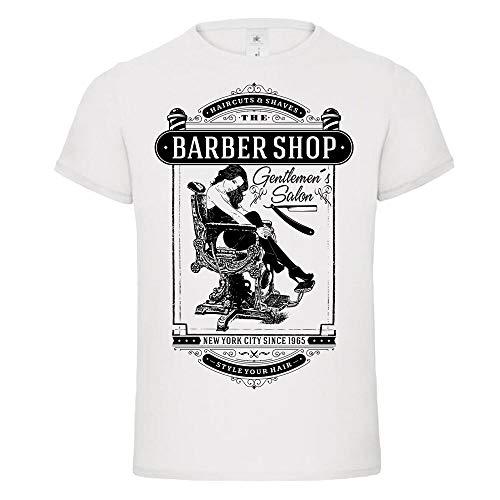 yuxuan Barber Shop Chair pin up Razor Shave Vintage Gentlemen Classic Tshirt Tee DTG