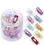 50 unidades de pinzas de tela coloreadas, pinzas de costura, accesorios de plástico para coser, grapas de ganchillo