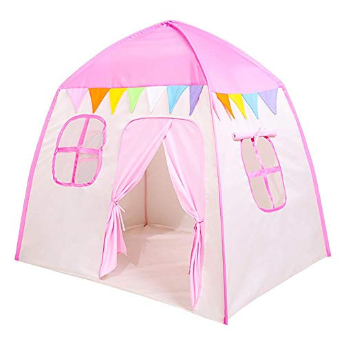 Nrkin Children's play tent girls princess tent, indoor and outdoor play tent, children's tent, princess castle play tent theatre, birthday gift for children, toddler, girls.
