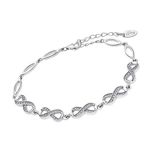 LOTUS Silver Pulsera Infinito LP1871-2/1 con circonitas de plata de ley JLP1871-2-1