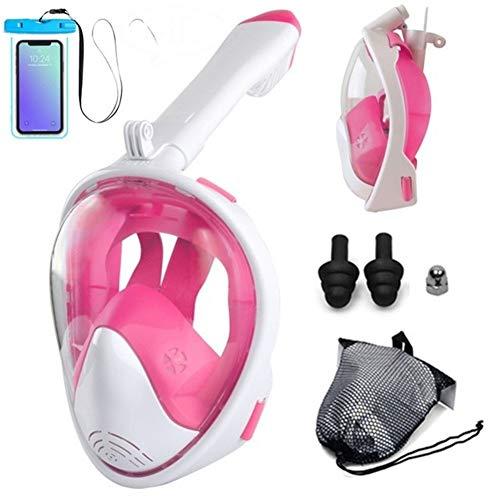 IDWF Maske Set Schwimmen Maske Schnorchel for die Kamera (Myopie Objektiv Option) Neue Erwachsene Anfänger Tauchmaske Vollgesichts Anti-Fog Unterwasser (Color : COLOR020015, Size : S/M)