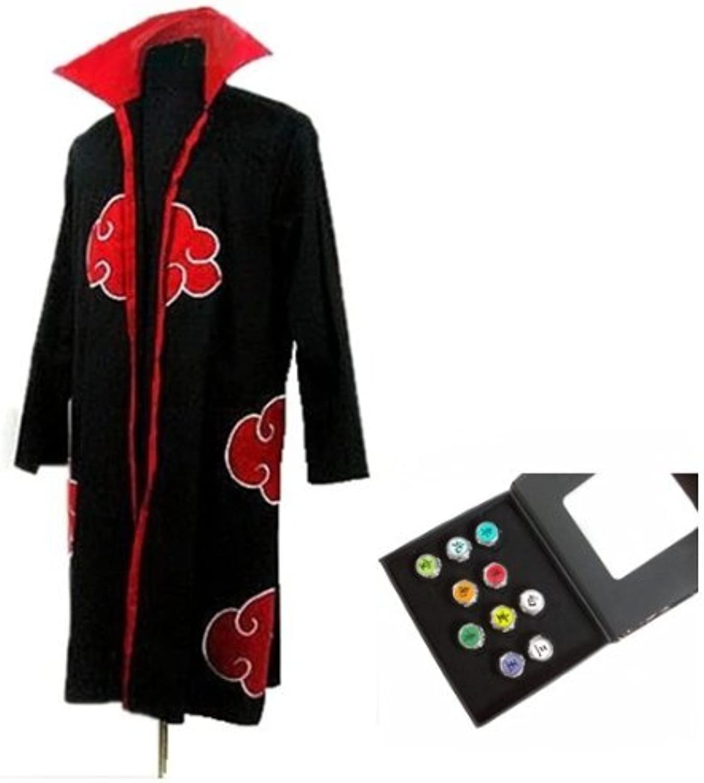 A la venta con descuento del 70%. CosJugar Naruto Akatsuki Akatsuki Akatsuki Ninja cosJugar   CosJugar capa + anillo , tamaño L (altura 169cm-176cm)  tienda de venta