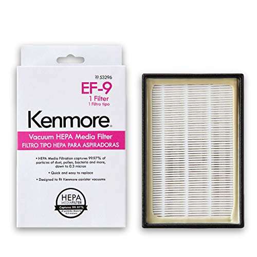 Kenmore 53296 HEPA Media Filter for Upright Vacuum 31140, 31150, BU1017 & Cainster Vacuum 81714, 21814, 22614, BC7005