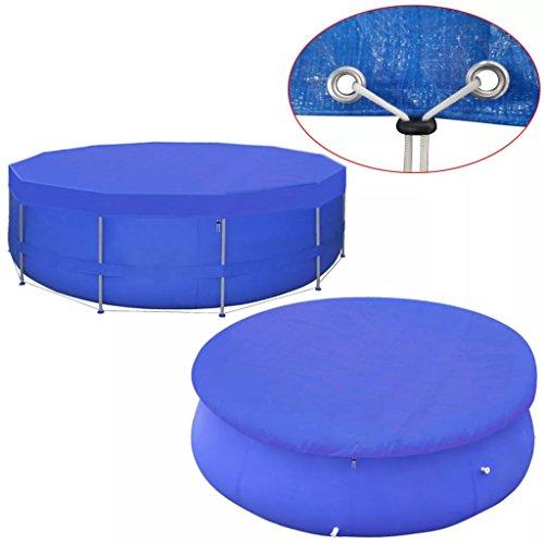 Festnight- Poolabdeckung PE Abdeckplane für runde Frame Pool 460 cm Schwimmbecken Stahlrahmen Rundpool Schwimmbad Cover90 g/m²