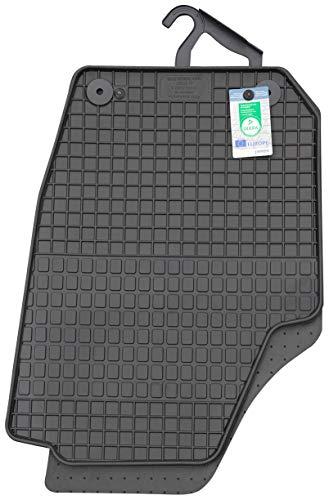 PETEX Gummimatte passend für Fabia II (Typ 54) ab 03/2007-10/2014 Fußmatten schwarz 4-teilig