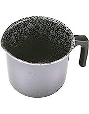 Alluflon Tradizione Italia Cazo para Leche con Boquilla, aluminio, Negro, 12cm