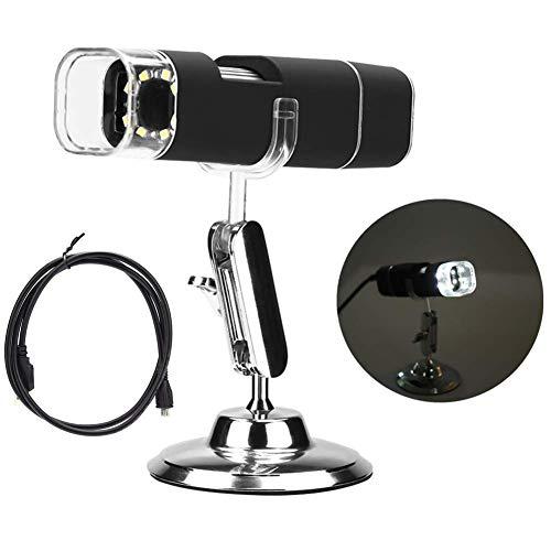 Luisong FANMENGY lupa de microscopio digital WiFi, 2 millones de microscopio digital inalámbrico de mano 1000X HD microscopio electrónico USB para teléfono móvil