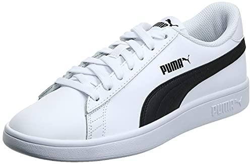 PUMA Smash v2 L, Scarpe da Ginnastica Unisex-Adulto, Bianco White Black, 41 EU