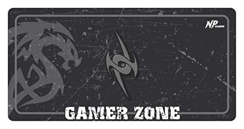 NivellPublicitari Alfombrilla Ratón Grande Alfombrilla Gaming Alfombrilla Gamer (800x400x2mm Gris) Máxima precisión Base y Superficie Texturizada Impermeable Antideslizante, Protector Escritorio.
