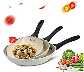"""Fry Pan Cookware Set 8"""" 9.5"""" and 10.5"""", Nonstick Frying Pan/egg Omelette pan/Hard Anodized Coating/Marble Stone Coating/PTFE APEO PFOA Free"""