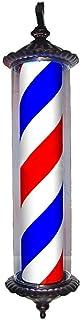 SAFGH Luz giratoria para peluquería al Aire Libre, peluquería y peluquería con lámparas Brillantes - Poste de peluquería V...