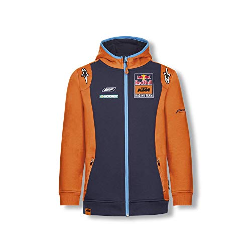 Red Bull KTM Official Teamline Zip Hoodie, Blau Youth Größe 128 Kapuzenpullover, KTM Racing Team Original Bekleidung & Merchandise