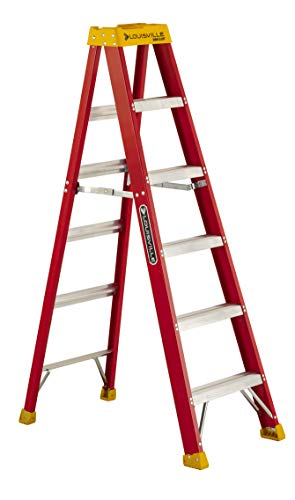 Louisville Ladder L-3016-06 300-Pound Duty Rating Fiberglass Stepladder, 6-Feet